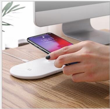 倍思 ip手機 iWatch手錶智慧二合一無線充電器不發燙10W無線快充#10725