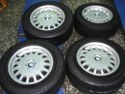 BMW 7頭5*120 E38.E32. 16吋原廠鋁圈+中古輪胎225/60/16普利司通ER50整組出售