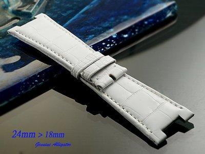 【時間探索】純正鱷魚皮-Patek Philippe Nautilus 百達翡麗-金鷹 代用高級錶帶 24mm(訂製款)