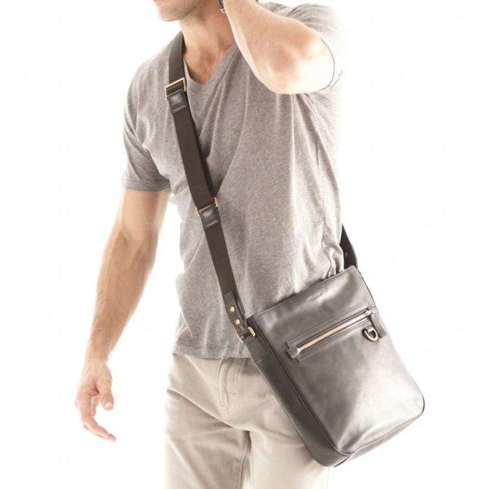 Coco小舖COACH 70488 Bleecker Legacy Leather Field Bag 軍綠色皮革斜背包