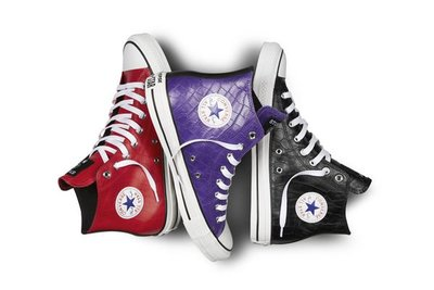 【日貨代購CITY】2013AW Stussy X Converse Chuck Taylor All Star Hi 高統 鱷魚紋 帆布鞋 紅色11號 現貨