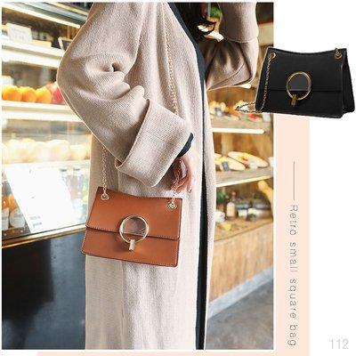 韓國連線 復古 鍊條 皮革 側背包 小側背包 斜背包 單肩包 手提包 方包 肩背包 小方包 包包 女包 小包 小ck風格