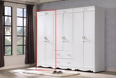 歐風2.7尺 雙吊衣櫥 衣櫃 儲物櫃 斗櫃 台中新家具批發 000502202 【可現金分期】