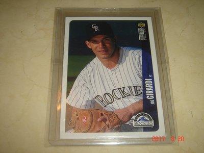美國職棒 Yankees Manager Joe Girardi  1996 UD  #132 球員卡