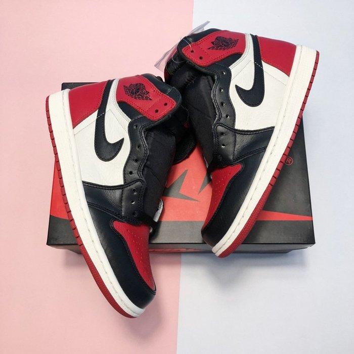 Nike Air Jordan 1 Bred Toe 黑紅白 籃球鞋555088-610