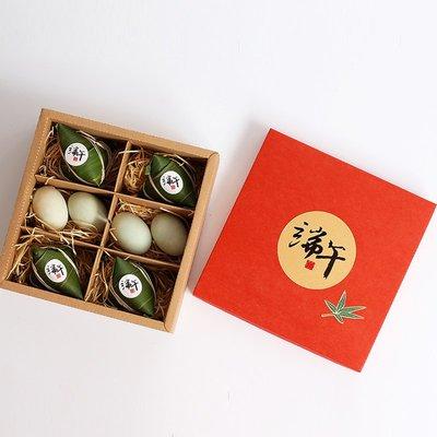 淘淘樂  創意批發端午節送長輩高檔禮物盒特產香粽肉粽禮盒粽子包裝盒紅色/量大可議價/6件起發貨
