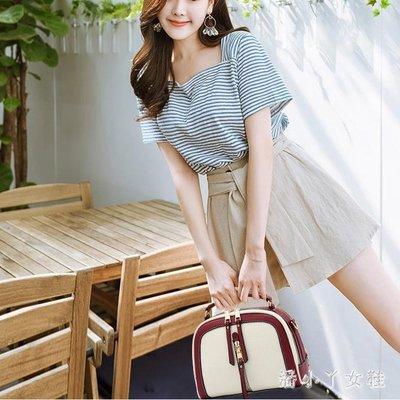 手提包2018夏季上新小包包韓版撞色單肩包時尚寬肩包潮 XW4253
