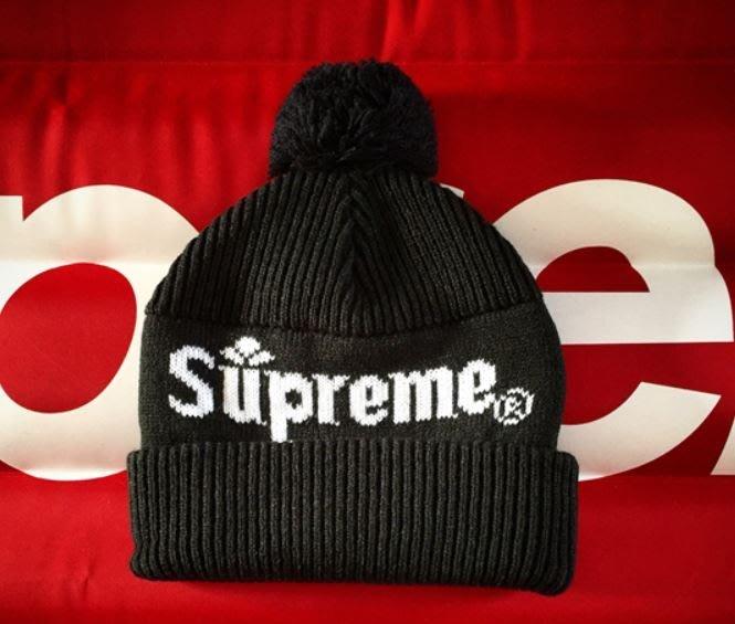 a505606ead8 全新正品SUPREME 15FW Citrus Beanie 字母毛球毛線帽天藍、藏青、黑 ...