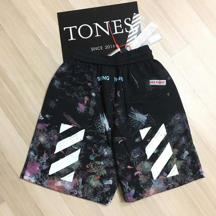 【TONES.】OFF WHITE 17FW COLLAR SHORTS 星空 短褲 最新單品 棉質
