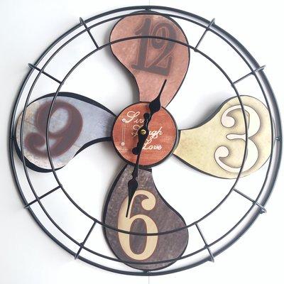 仿古風扇形掛牆鐵鐘 / Retro Iron Fan Shape Wall Mounting Clock