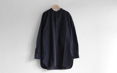 WaShiDa Houston / Officers Shirt 無領長襯衫 深藍 - 現貨