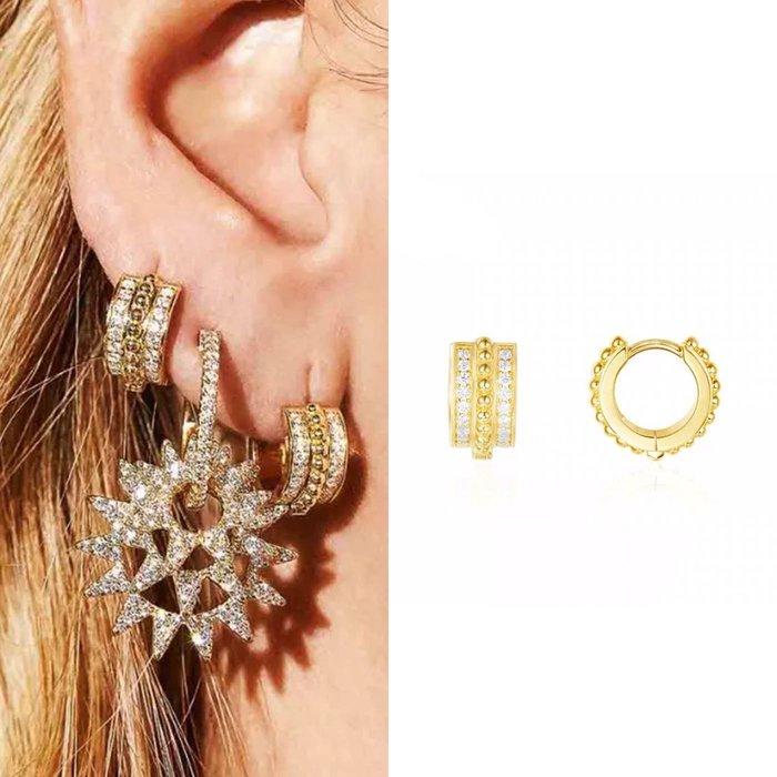 💎1749、絕美脫俗所羅門皇室圖騰簡約易扣輕奢耳環💎  精品 耳環 輕奢飾品 正韓飾品 925純銀針