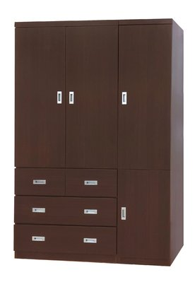 【南洋風休閒傢俱】精選時尚衣櫥 衣櫃 置物櫃 拉門櫃 造型櫃設計櫃-胡桃4*7尺衣櫥 CY182-147