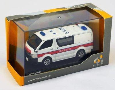 Tiny 02 1/43 Toyota Hiace Police 警車 警察 微影