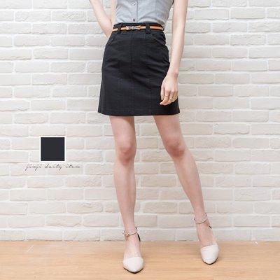 中大尺碼團體制服裙/彈性黑色口袋A字裙《SEZOO襯衫殿 高雄店家》001002255