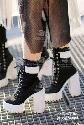 【格倫雅】歐洲站夏個性超高跟粗跟鞋綁帶舒適女鞋6116[g-l-y46