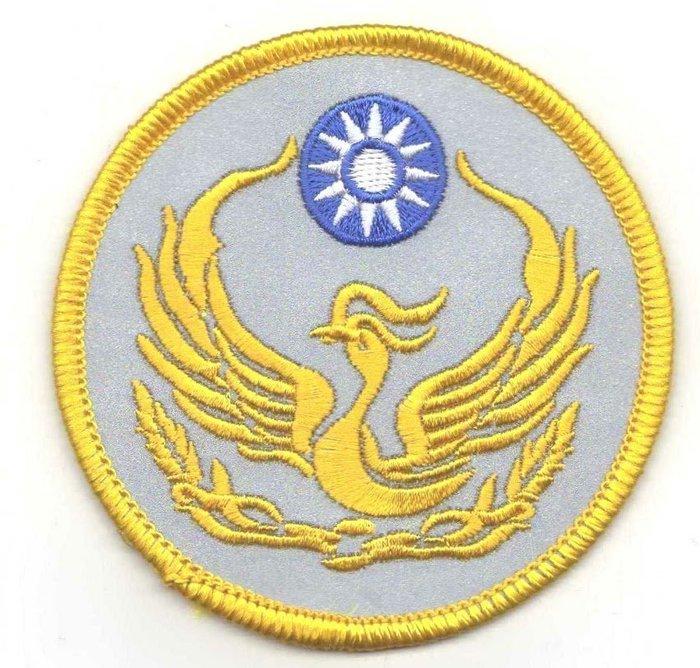 ※警察反光配件※ 反光警察徽章,5片(反光布+單色刺繡+熱熔膠)