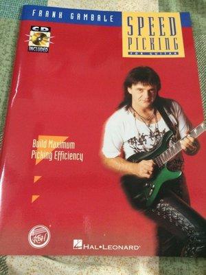【自有書】Speed Picking by Frank Gambale (+CD)教學譜
