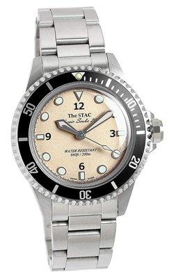 日本正版 The STAC Classic Scuba 200 st-cs001 手錶 銀色 日本製 日本代購