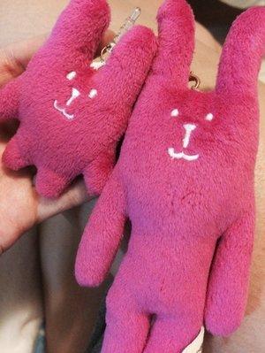 絕版品☄Accent❅粉嫩粉紅色兔兔子手機殼子母吊飾耳機孔防塵塞craftholic全家宇宙人iphone6 6s i6s i7生日禮物包包墜飾化妝包桃紅色桃兔