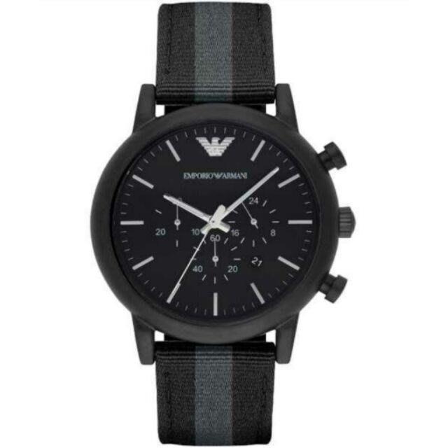 ARMANI亞曼尼手錶 休閒計時腕錶-黑/46mm AR1948男士錶