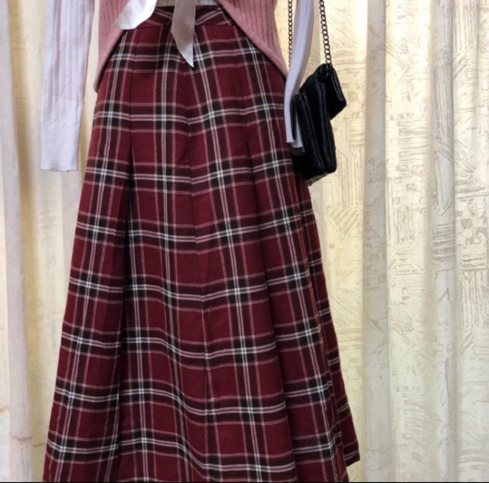 🌸英格蘭風紅格裙🌸