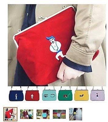 YIZI新款 創意口金刺繡斜跨包單肩包 復古文藝女包包三件免運) 支持一件代發