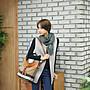呼韓-包包【B2108-02】韓國空運:韓製 歐洲英倫格紋流蘇綴飾100%真皮手提/肩背水桶包(3色預購)
