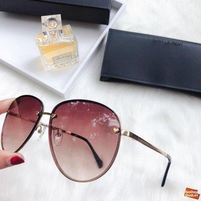 【GoDay+刷卡】YSL yves saint laurent 時尚飛行 女款太陽眼鏡 墨鏡顏色5 歐洲限量代購