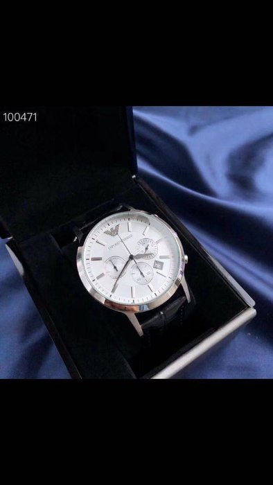 ARMANI 全新真皮錶帶男士手錶 附盒子 限時特惠