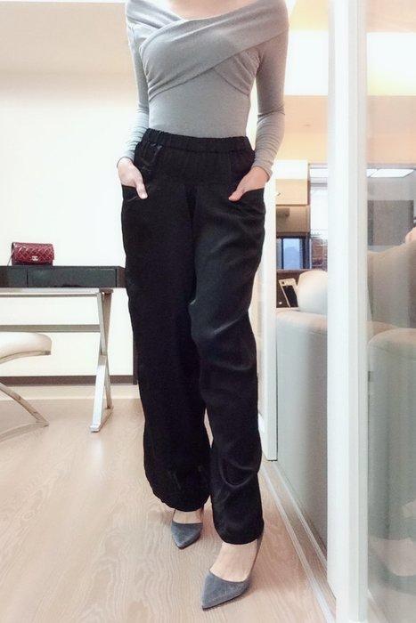 *Beauty*日ZUCCA黑色絲質寬管長褲M號4500元 GR
