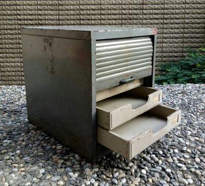 工業風 蛇腹式拉門  五層文件櫃