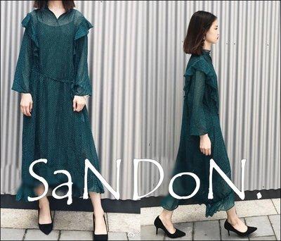 SaNDoN x『mila owen 』八月秋季新款 透視感荷葉邊復古洋裝 SLY snidel 170818