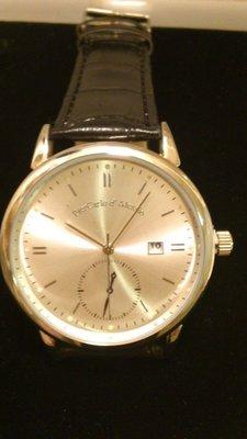 PierCarlo d' Alessio 真皮錶帶白色錶面手錶(全新)