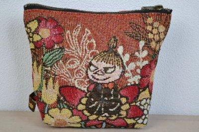 ☆Juicy☆日本樂天 姆明 慕敏 MOOMIN  亞美 針織風 化妝包 筆袋 手拿包 收納袋 小物包 3165