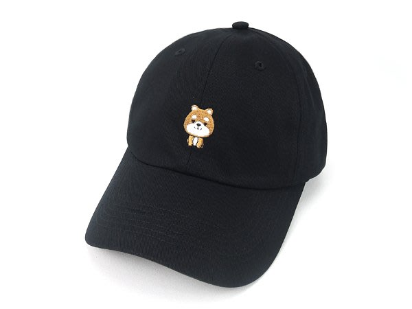 ☆二鹿帽飾☆(柴犬) 抗UV 休閒球帽/流行棒球帽/ 短帽簷7.5cm-台灣製-黑色/粉紅色