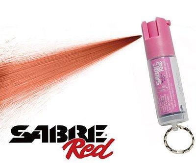 【犀利防衛】美國Sabre沙豹防身噴霧-輕量粉紅鑰匙圈YS-KR-NBCF-02