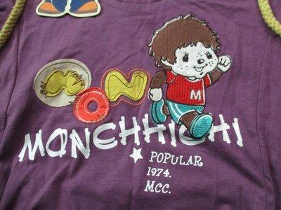 全新有吊牌 百貨知名專櫃品牌MCC (MONCHHICHJ)夢奇奇 刺繡 貼布 連帽  棉 短袖上衣/M