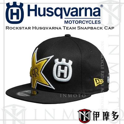 伊摩多※Rockstar Husqvarna Team Snapback Cap 聯名刺繡LOGO 布帽 搖滾星