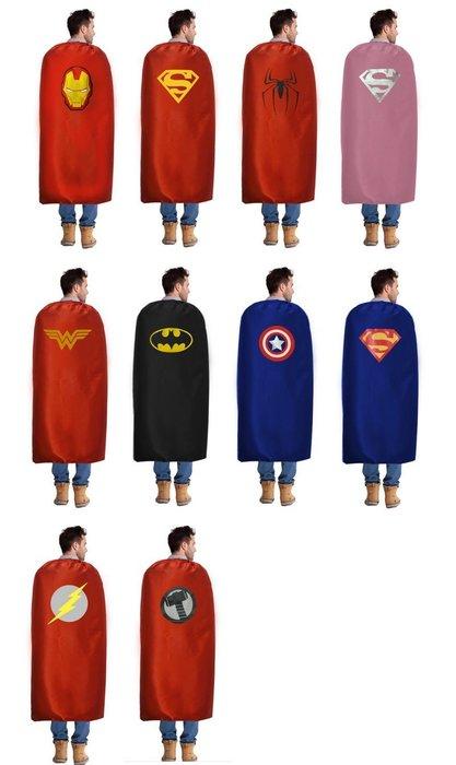 萬聖節披風,超人披風/蜘蛛人/蝙蝠俠披風/鋼鐵人/美國隊長/神力女超人/復仇者聯盟
