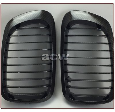 For E46 M3 CARBON LOOK 水轉印 98-06 GRILLES  水箱罩