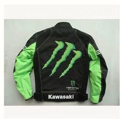 【免運】--(XL) Kawasaki monster 鬼爪四季防摔衣