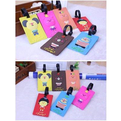 行李牌【PVC-28】韓國卡通行李吊牌,行李箱吊牌,卡套,Zakka,婚禮小物創意居家❖365創意生活❖現貨