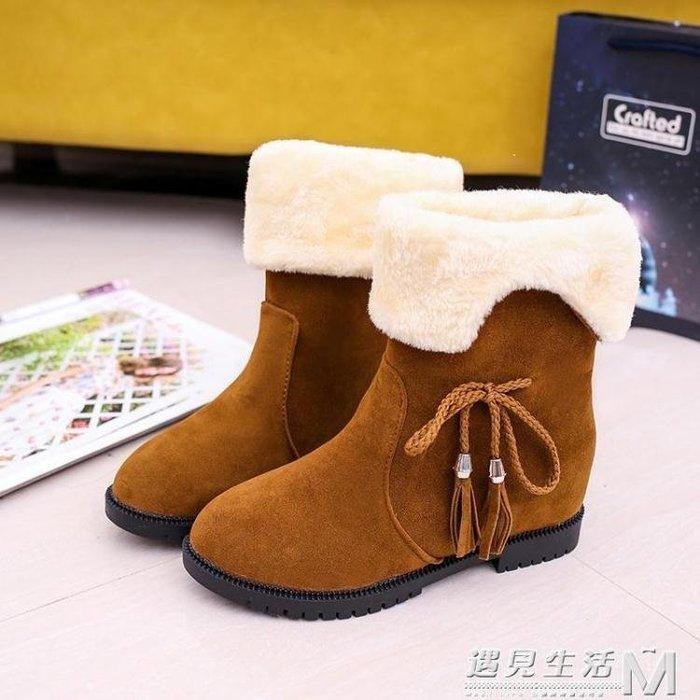 YEAHSHOP 冬季新款韓版雪地靴女鞋短筒加絨Y185