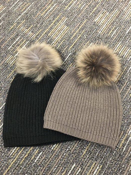 喬瑟芬【P.A.R.O.S.H】現貨~2016秋冬 羊毛+喀什米爾 浣熊毛球 毛帽