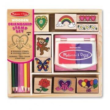 【小糖雜貨舖】美國 Melissa & Doug 木製印章組 - 好朋友插圖組