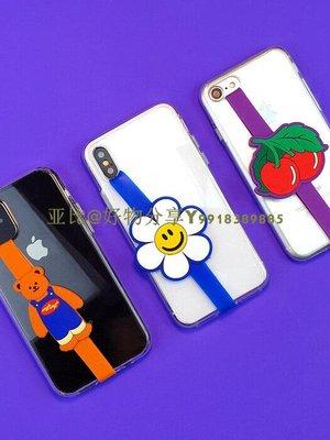韓國 wiggle wiggle 黏貼式  手機防摔卡通綁帶