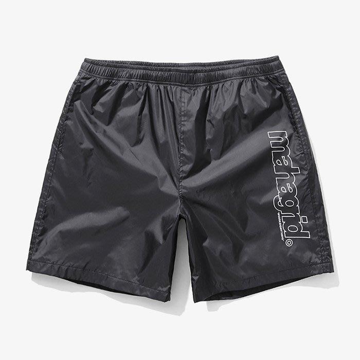 【QUEST】MAHAGRID - BIG LOGO SHORTS - 大LOGO膝上短褲 黑
