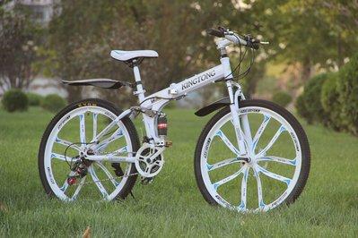 自行車/腳踏車/公路賽車,26吋 21段變速 前後雙避震 前液壓減震 雙碟煞 折疊車 鋁合金10刀一體輪圈