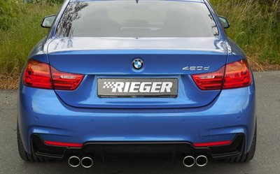 【樂駒】RIEGER BMW F32 F33 F36 exhaust silencer 雙邊雙出 排氣管 全段